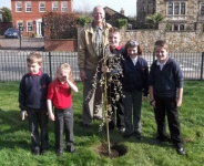 Society Plants Tree with School Children